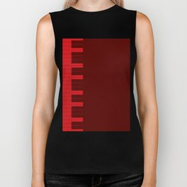 Red Piano Keys Biker Tank
