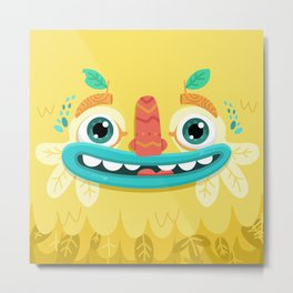 Yellow Monster Metal Print
