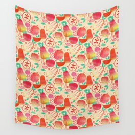 Red Apples & Pears Wall Tapestry