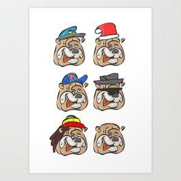 Full dogs Art Print