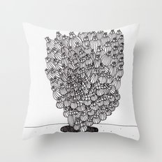 Escaping Up Throw Pillow