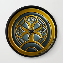 The Crest of Mithera Wall Clock