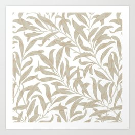 Delicate Leaf Pattern Art Print