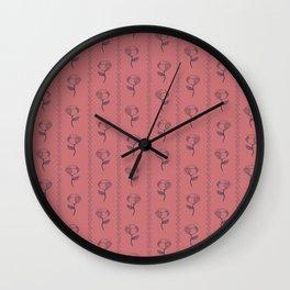 Blue flower Wall Clock