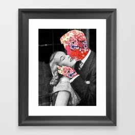 Bloomy Kiss Framed Art Print