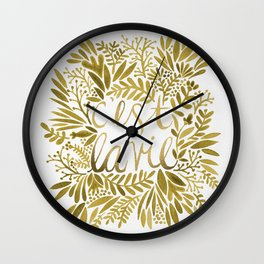 That's Life – Gold on Gold Wall Clock