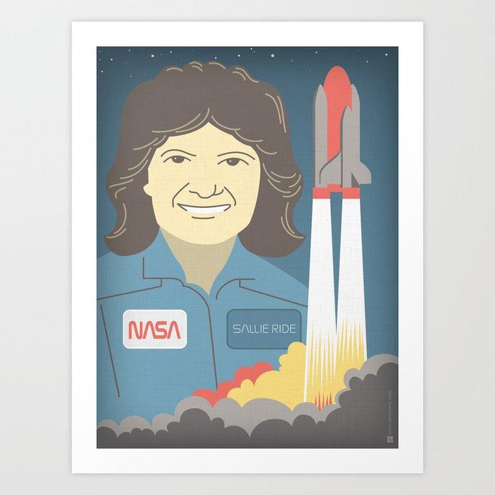 Sally Ride Portrait Art Print