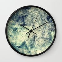 grunge Wall Clocks featuring Grunge by Amanda Roof