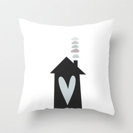 Home, Love, Illustration, Heart,  Throw Pillow