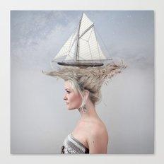 Sailing - White Canvas Print