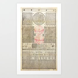 San cai yi guan tu (Chinese Astronomy 1722) Art Print