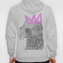King_white/pink crown Hoody