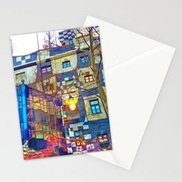 Hundertwasser Museum. Vienna. Austria Stationery Cards
