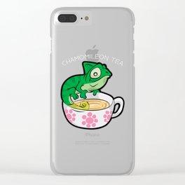 CHAMOMILEON TEA chameleon cup Gecko Cartoon Comic Clear iPhone Case