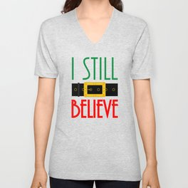 I Still Believe Santa's Belt Christmas Unisex V-Neck