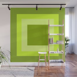 Lime Green Square Design Wall Mural