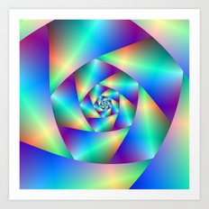 Spiral in Blue and Purple Art Print