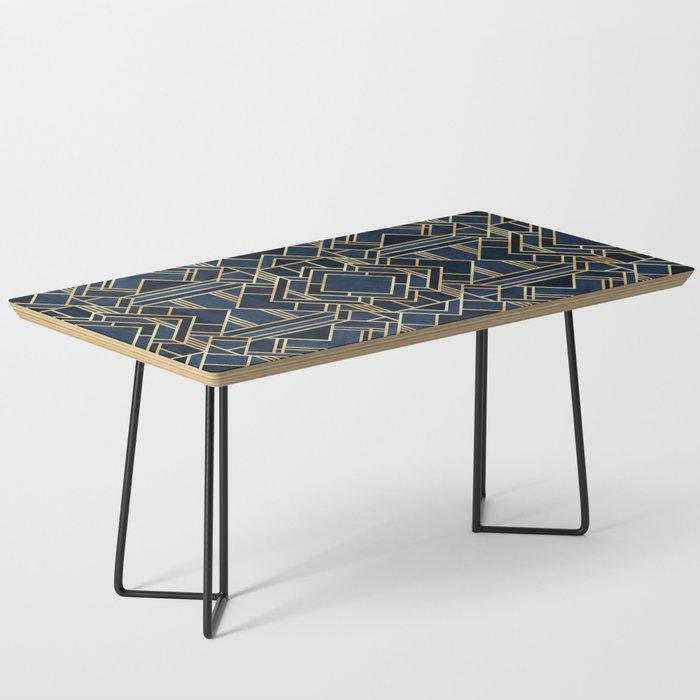 Art Deco Fancy Blue Coffee Table