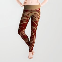 Bear Spirit (Maroon) Leggings