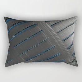 Futuristic technology, brushed metal shapes with glowing lines Rectangular Pillow