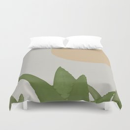 Aloe and moon Duvet Cover