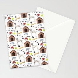 Dalmatian Half Drop Repeat Pattern Stationery Cards