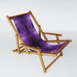 Beautiful Dark Purple glitter sparkles Sling Chair