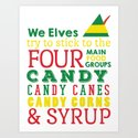 Elves food Groups - Elf the movie by graphicloveshop