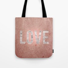 Love in a Word  Tote Bag