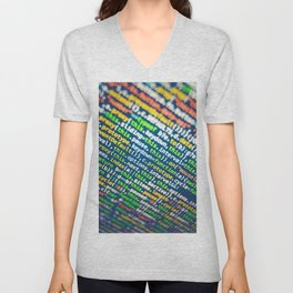 Colorful Code (Color) Unisex V-Neck