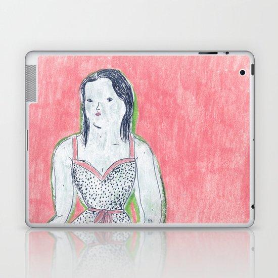 the girl is waiting Laptop & iPad Skin