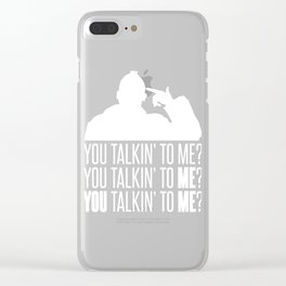 Taxi Driver You Talkin' To Me 3 Gift Clear iPhone Case