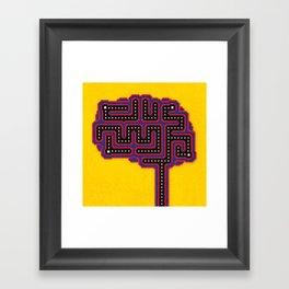 Gamer Brain Framed Art Print