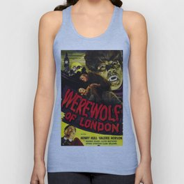 Werewolf of London, vintage horror movie poster, 2 Unisex Tank Top