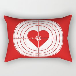Hit Me in the Heart Rectangular Pillow