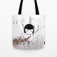 i want to believe Tote Bags featuring I WANT TO BELIEVE by Agente Morillas
