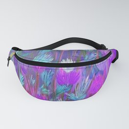 Field of Flowers in Purple, Blue and Pink Fanny Pack