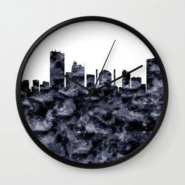 Toledo Skyline Ohio Wall Clock