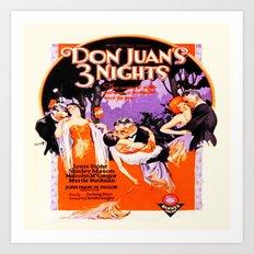 Vintage Twenties Film Advert Art Print
