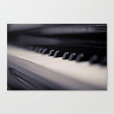 One small key to happiness is to stop and enjoy the music....  Canvas Print