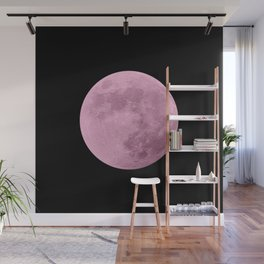 PINK MOON // BLACK SKY Wall Mural