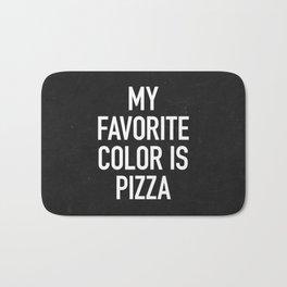 My Favorite Color is Pizza Bath Mat