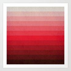 Red Grunge Art Print