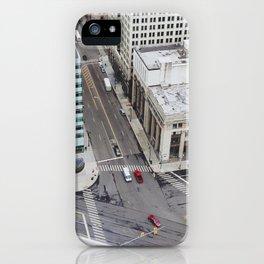 Michigan Ave & Griswold - Detroit, MI iPhone Case