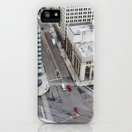 Michigan Ave & Griswold - Detroit, MI iPhone Case