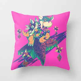 Bowser in the Sky Throw Pillow