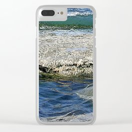 A Blue and Green Summer Sea Clear iPhone Case