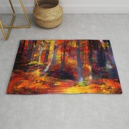 Paths through an Autumn Forest Rug
