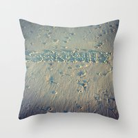 serenity Throw Pillows featuring Serenity by Brianne Lanigan
