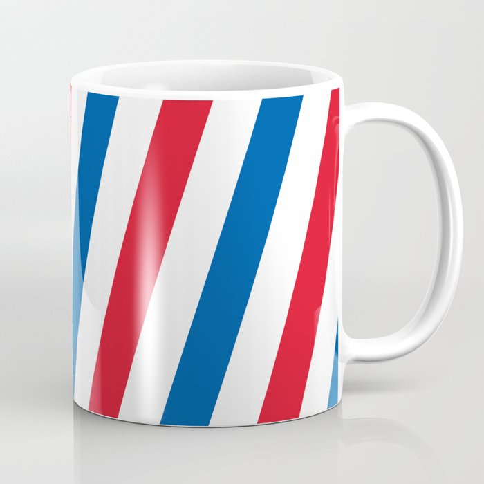 Blue White And Red Stripes Pattern Coffee Mug